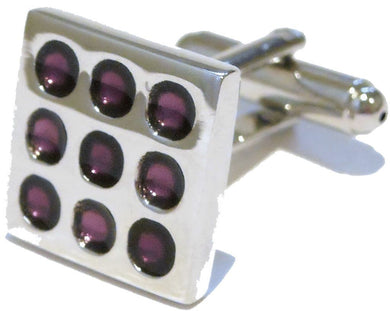 NEW Top Quality Purple Enamel Square Cufflinks by CUFFLINKS DIRECT