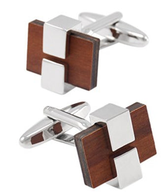 Luxury Wood Cufflinks Mens 5th Wedding anniversary Gift by CUFFLINKS DIRECT