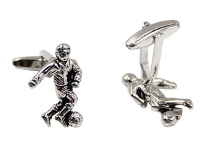 Soccer Football Striker Players Mens Wedding Gift Cuff links by CUFFLINKS DIRECT