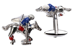 3D High Goal Polo Pony Chukka & Player Mens Gift Cuff links by CUFFLINKS DIRECT