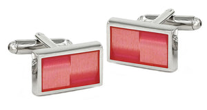 Modern Pink Rectangle Enamel Cufflinks   by CUFFLINKS.DIRECT