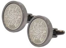 1931 Sixpence Coins Set in a Gun Metal Setting Mens Gift by CUFFLINKS DIRECT