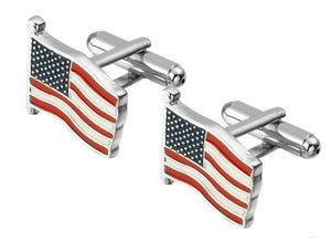 USA American Stars and Stripes Old Glory flag Gift Cufflinks by CUFFLINKS DIRECT