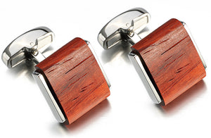 Luxury Square Rosewood Cufflinks Mens Wedding Gift Cuff links  CUFFLINKS DIRECT