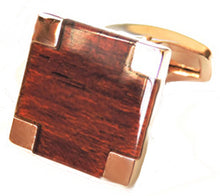 Beautiful Contemporary Rose Gold and Mahogany Wood Cufflinks