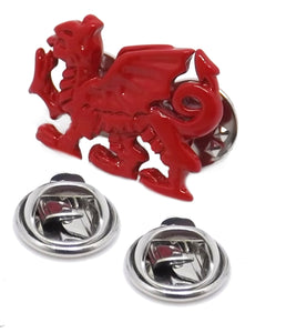 Red Wales Welsh Celtic Rugby Dragon Stock Tie Lapel Pin Badge Brooch by CUFFLINKS DIRECT