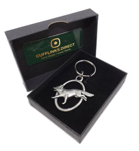 Silver Pewter Running Fox Key Ring Chain Mens Shooting Gift CUFFLINKS DIRECT