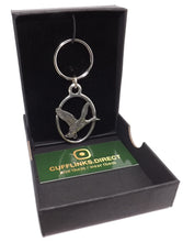 Silver Pewter Mallard Duck Key Ring Chain Mens Shooting Gift CUFFLINKS DIRECT
