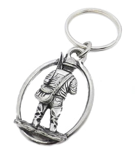 Silver Pewter Fisherman Key Ring Chain fishing Gift for him by CUFFLINKS DIRECT