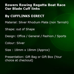 3D Rowers Rowing Regatta Boat Race Oar Blade Gift Cuff links by CUFFLINKS DIRECT