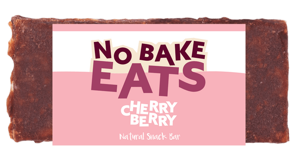 10 No Bake Natural Snack Bars - Cherry Berry
