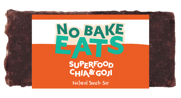 10 No Bake Natural Snack Bars - Superfood Chia Goji Berry