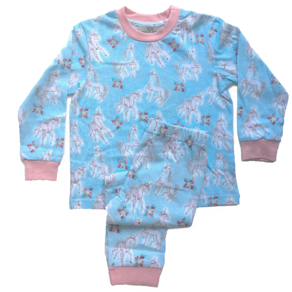 Children's Pyjamas | Their Nibs | Unicorns (2-piece set)