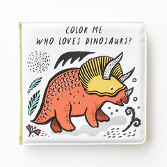 Colour In Bath Book : Dinosaurs