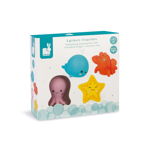 Sea Creatures Bath Squirties Bath Toy in its packaging