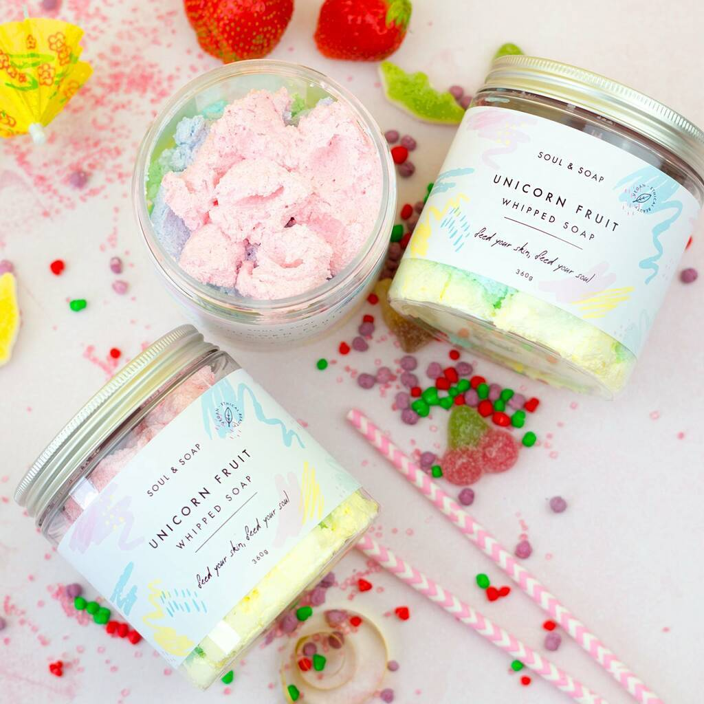 Bath Gifts - Unicorn Fruit Whipped Soap