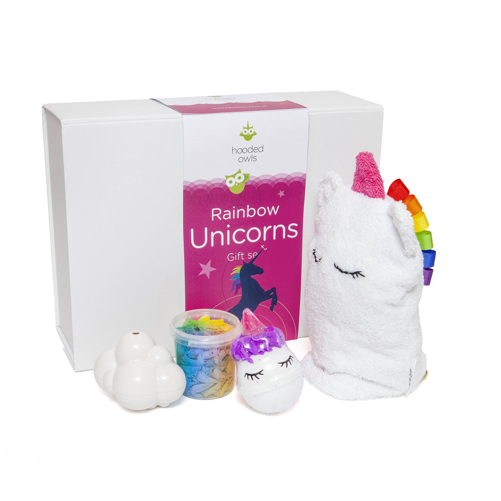 Gift Box - *PRE-ORDER* Rainbow Unicorns Bathtime Gift Set. Dispatch W/c 9 November