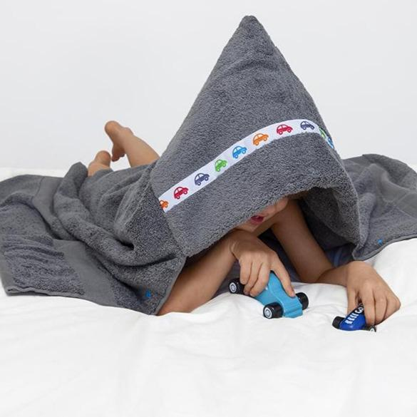 Hooded Towel - Cars Hooded Towel (Standard, Grey)