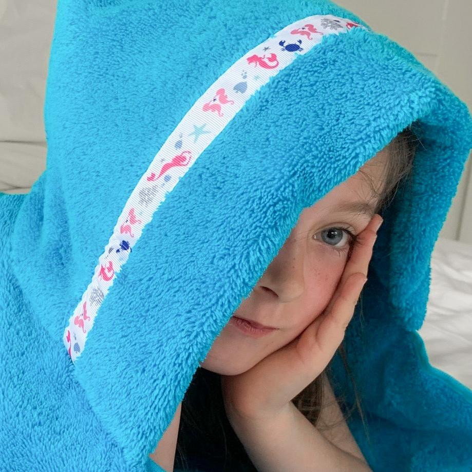 Hooded Towel - Mermaids Hooded Towel (Standard, Turquoise)