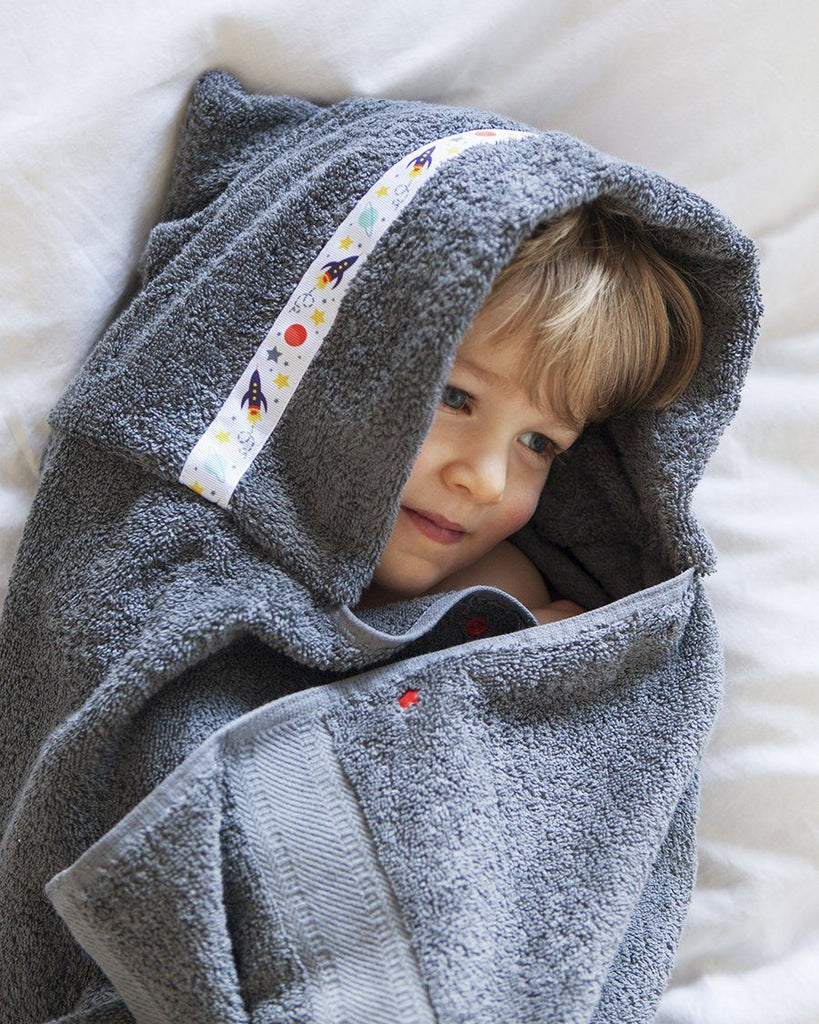 Hooded Towel - Outer Space Hooded Towel (Standard, Grey)