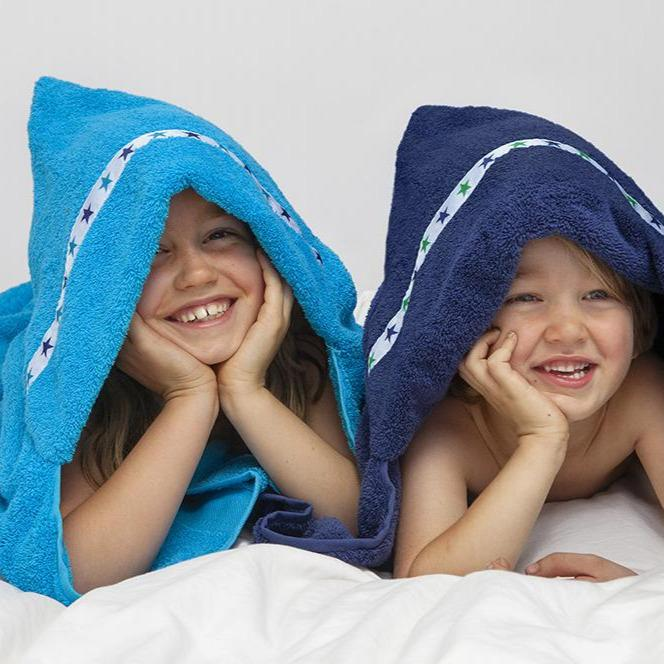 Hooded Towel - *PRE-ORDER* Blue Stars Hooded Towel (Jumbo, Turquoise). Dispatch W/c 9 November