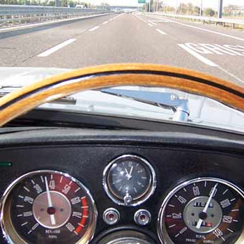 Road trip in a classic car