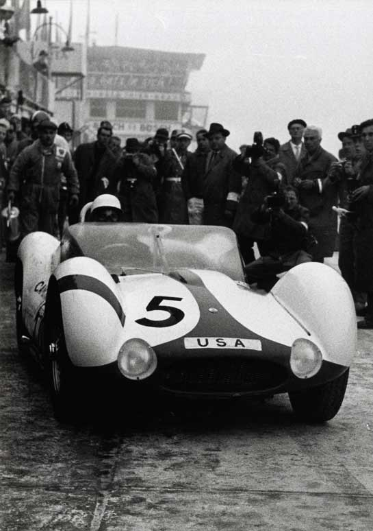Stirling Moss in a Maserati at Nurburgring
