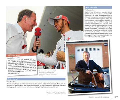 Martin Brundle interviewing Lewis Hamilton