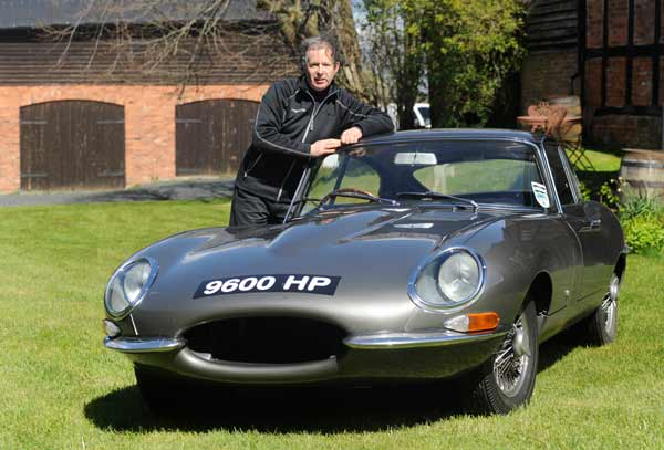 Philip Porter with his E-type 9600HP