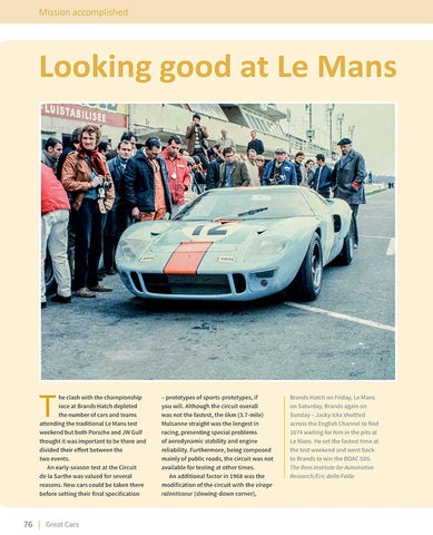 GT40 Gulf at Le Mans