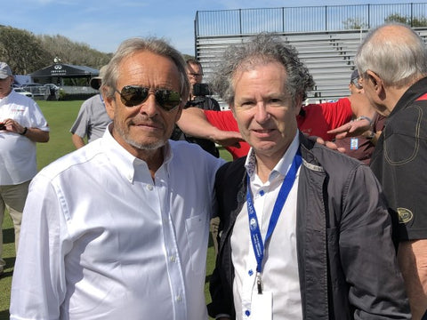 Jackie Ickx with Philip Porter at Amelia Island
