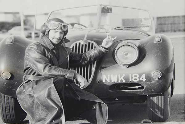 Philip Porter with XK140