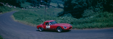 lightweight e-type at Shelsley Walsh