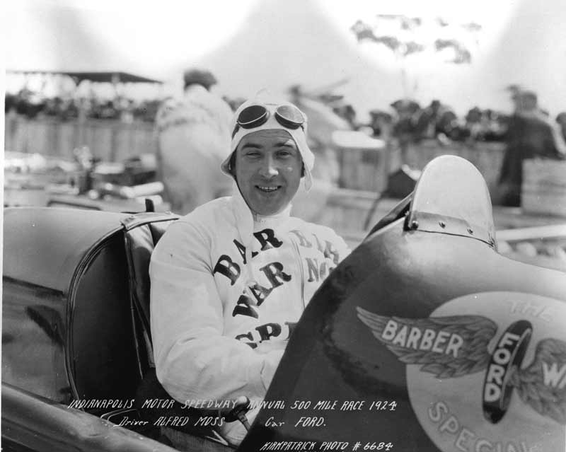 BRP co-owner, Alfred Moss competed at Indianapolis in 1924