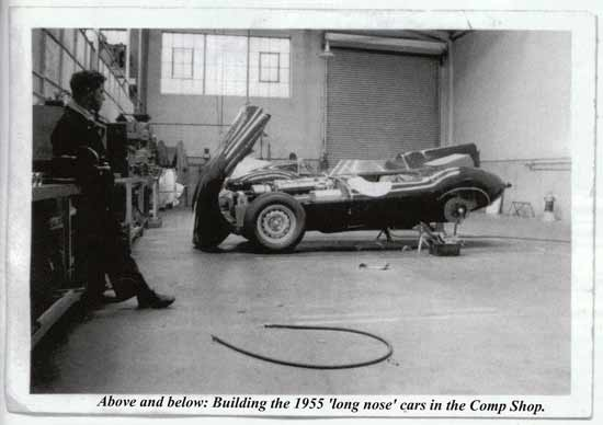 Building the 1955 'Long Nose' cars in the comp shop
