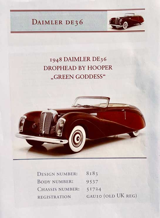 Daimler DE36 Drophead by Hooper was a stately motor car