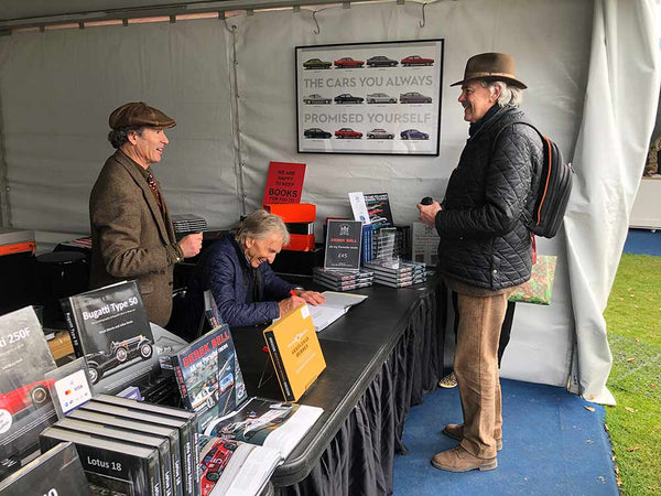 Derek Bell MBE book signing at Goodwood Members Meeting