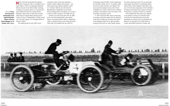 Henry Ford driving the sweepstakes racer