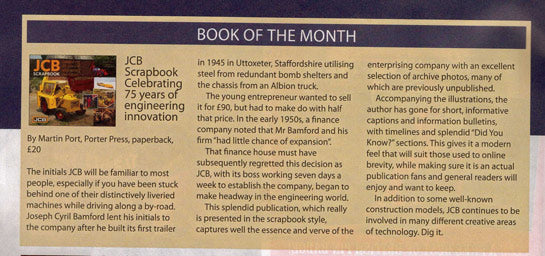 JCB book of the month