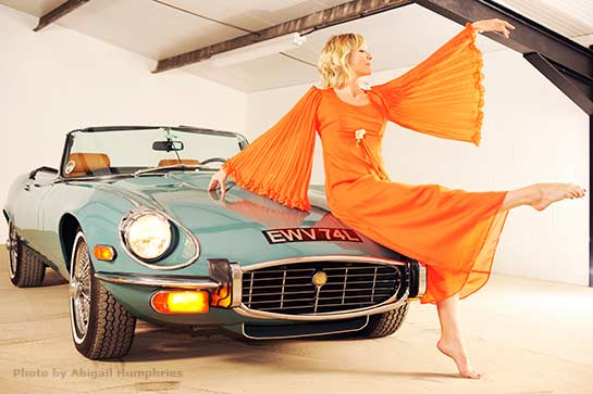 Lady with E-type