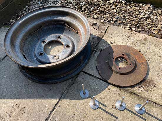 Land Rover wheel rim for fire pit project