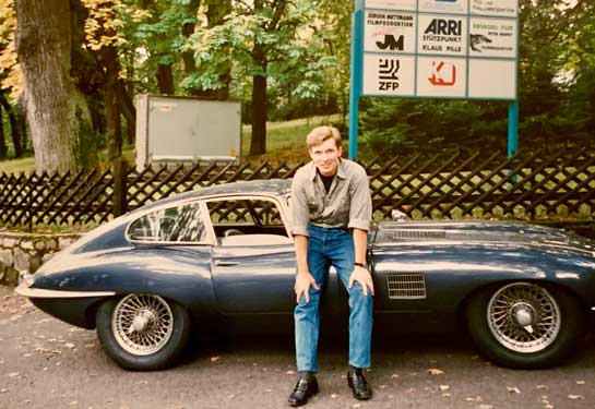 Michael with his E-type
