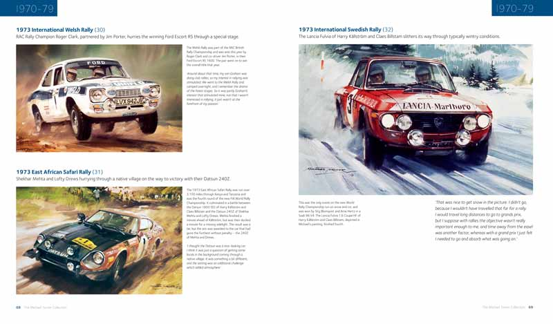 1973 International Swedish Rally painting by Michael Turner