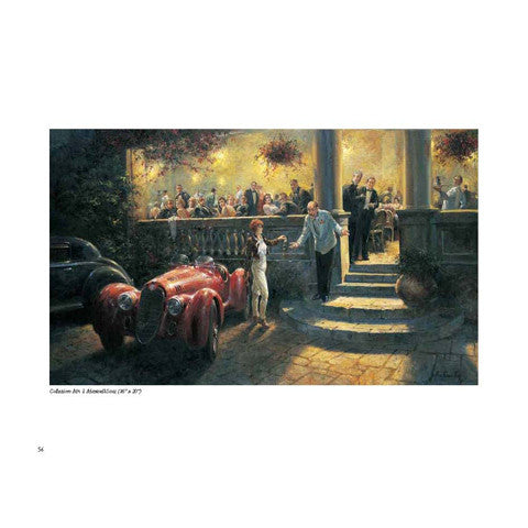 Alan Fearnley Automotive Artist book leatherbound edition