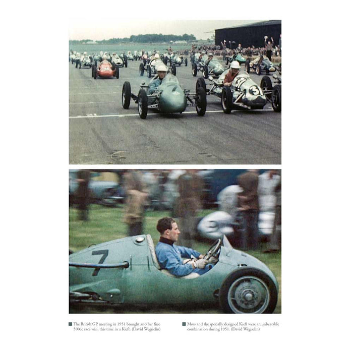 Stirling Moss at the British Grand Prix, Kieft car