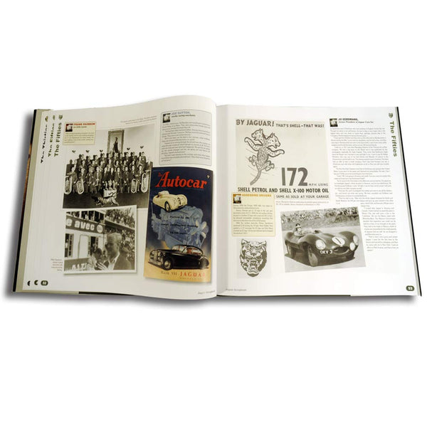 Leatherbound Jaguar history book  with archive images