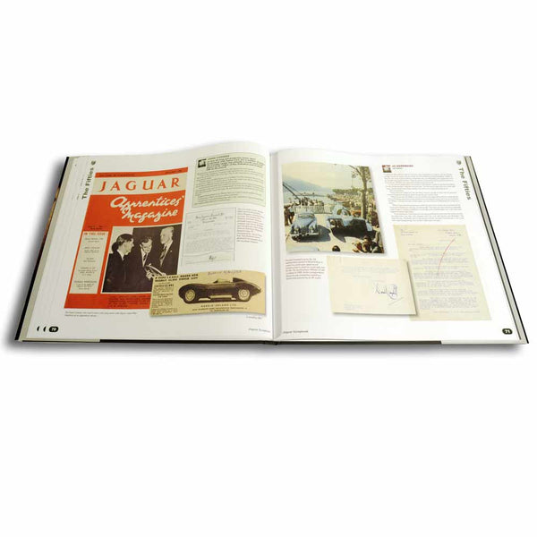 Leatherbound Jaguar history book