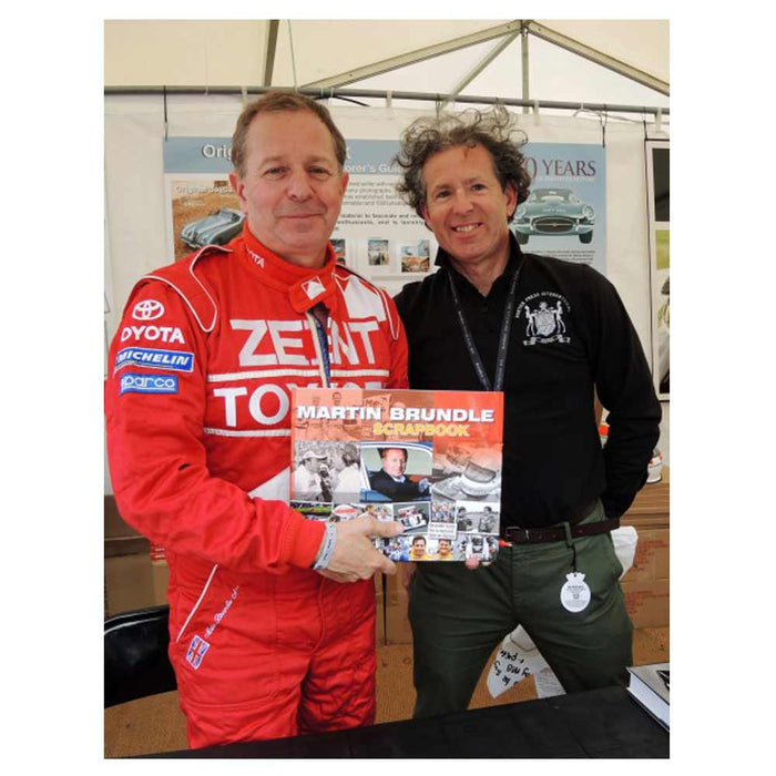 Martin Brundle at Goodwood with Philip Porter
