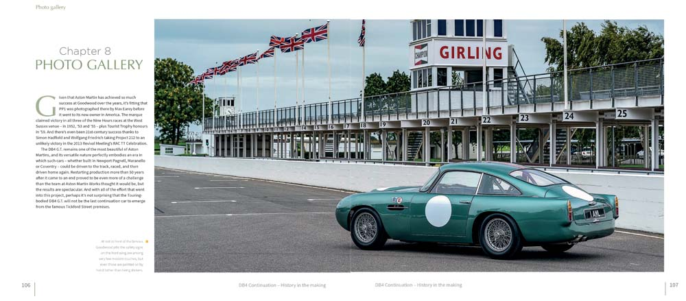 DB4 GT at famous Goodwood pits