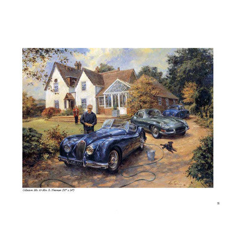 Automotive paintings by Alan Fearnley - illustrated book
